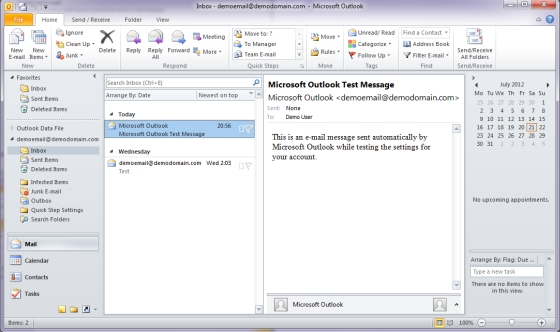 Microsoft Outlook 2010 Screenshot